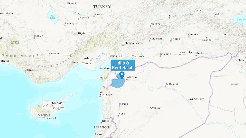 Idlib & Reef Halab Map